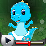 G4K Blue Baby Dinosaur Escape Game Walkthrough