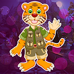 G4K Cartoon Tiger Escape From Real Cave Game