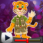 G4K Cartoon Tiger Escape From Real Cave Game Walkthrough