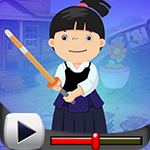 G4K Chinese Sword Fight Girl Escape Game Walkthrough
