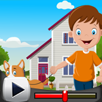 G4K Cute Boy With Perky Dog Rescue Game Walkthrough