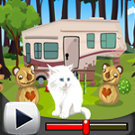 G4K Cute White Cat Rescue Game Walkthrough