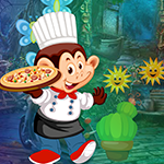 Monkey Pizza Chef Escape