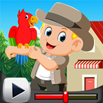 G4K Stylish Boy With Parrot Rescue Game Walkthrough