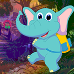 G4k Joyful Baby Elephant Rescue Game
