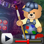 G4k Painting Bear Rescue Game Walkthrough