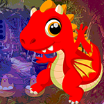 G4k Red Fire Dragon Escape Game