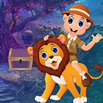 G4k Ride Lion Rescue Game
