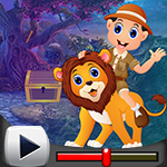 G4k Ride Lion Rescue Game…
