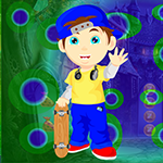 G4k Skateboard School Boy Rescue Game