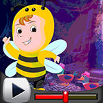 G4k Slothful Bee Rescue Game walkthrough