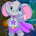 G4k Superhero Elephant Rescue Game