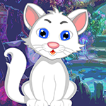 G4k White Cat Rescue Game